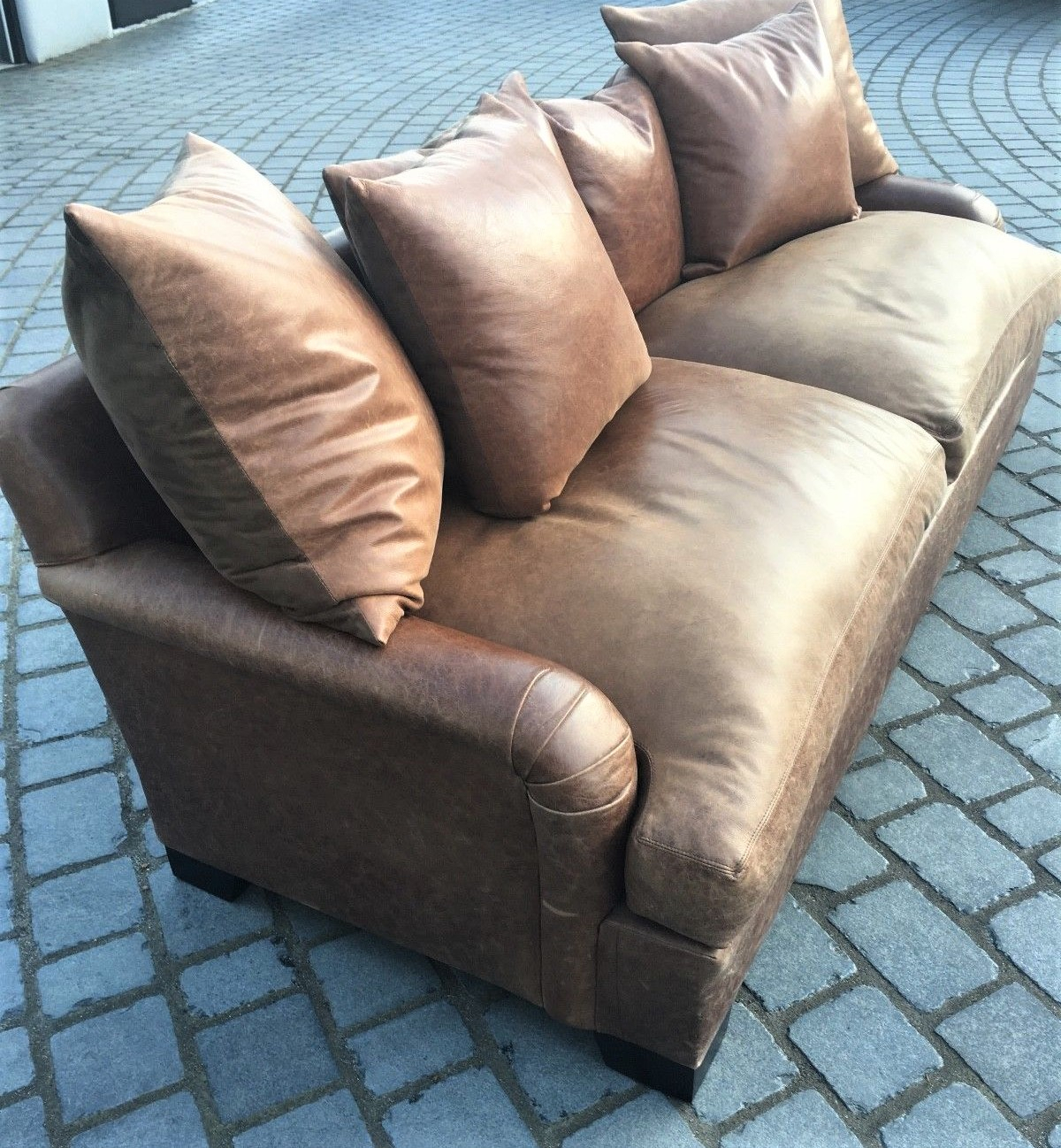 An Andrew Martin Natural Hide Leather Sofa – Aegm Pertaining To Andrew Leather Sofa Chairs (Image 3 of 25)
