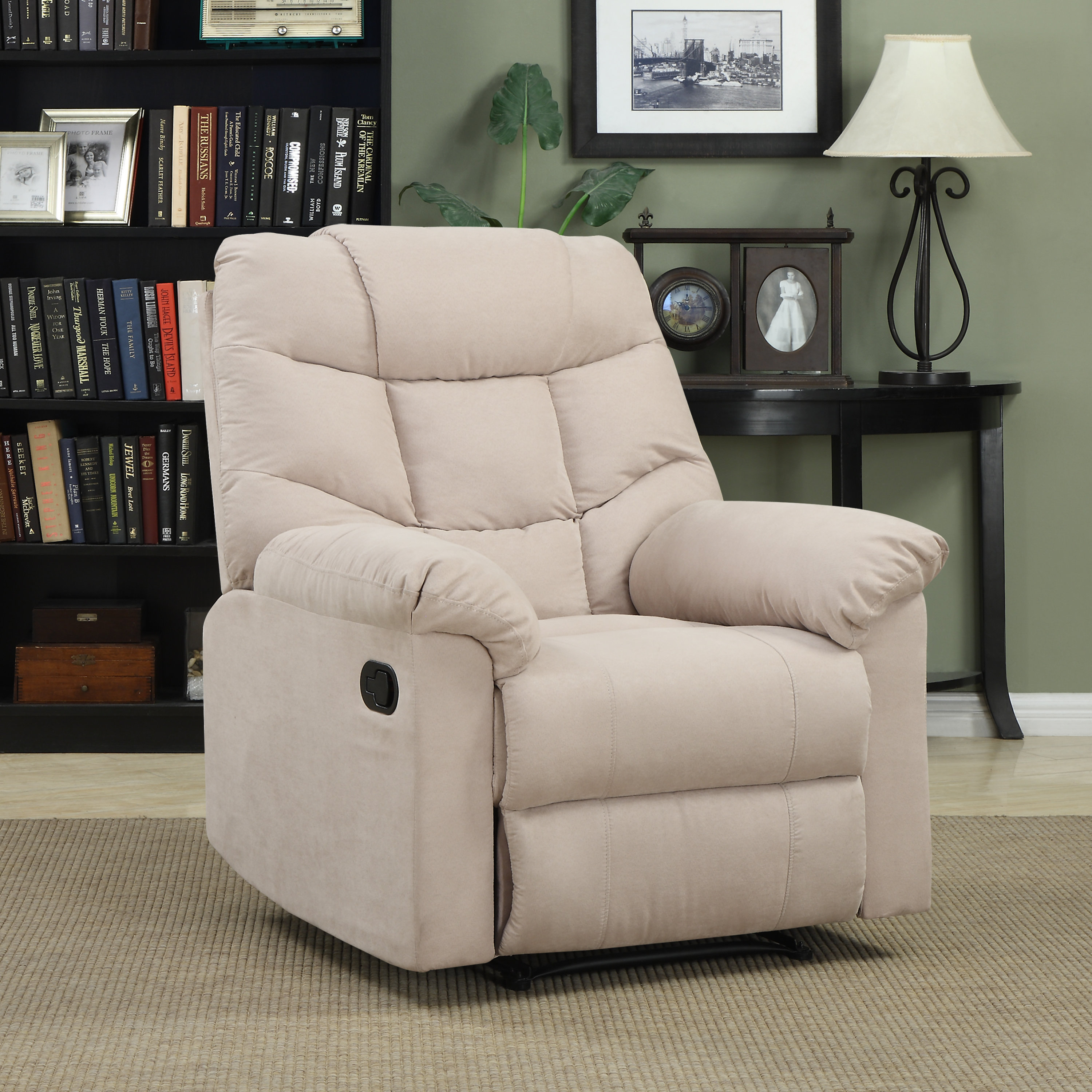 Andover Mills Gertrude Manual Wall Hugger Recliner & Reviews | Wayfair Intended For Bailey Angled Track Arm Swivel Gliders (Image 1 of 25)