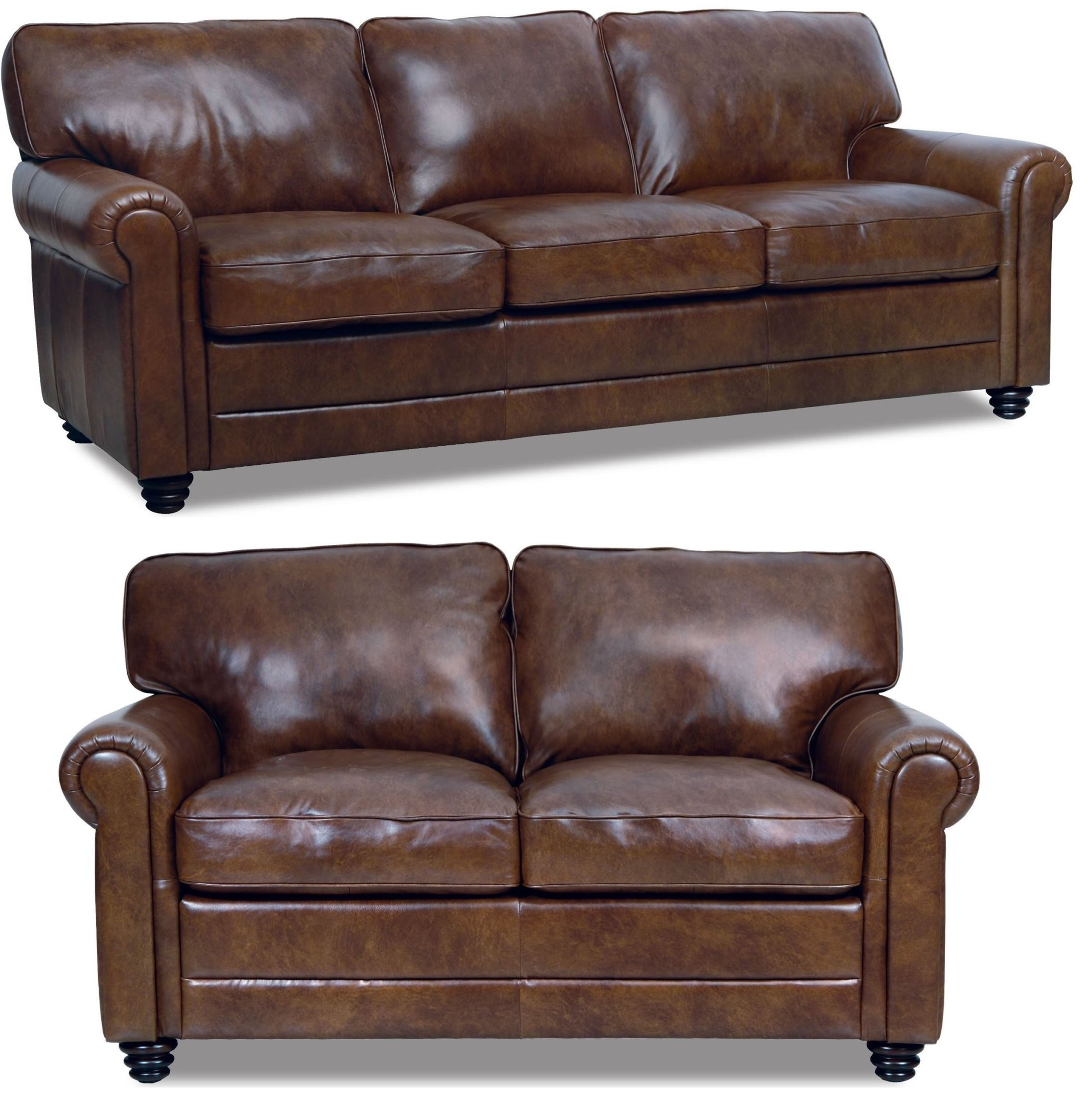 Andrew Italian Leather Living Room Set From Luke Leather (Andrew Within Andrew Leather Sofa Chairs (Image 6 of 25)