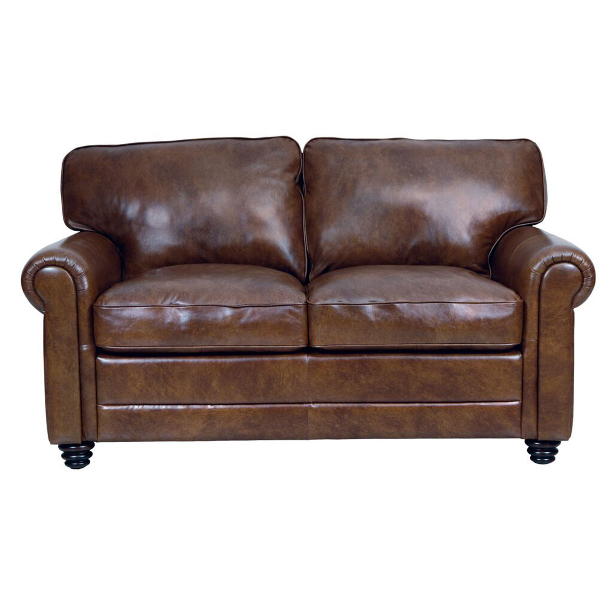 Andrew Leather Loveseat In 2018 | Living Space (Image 9 of 25)