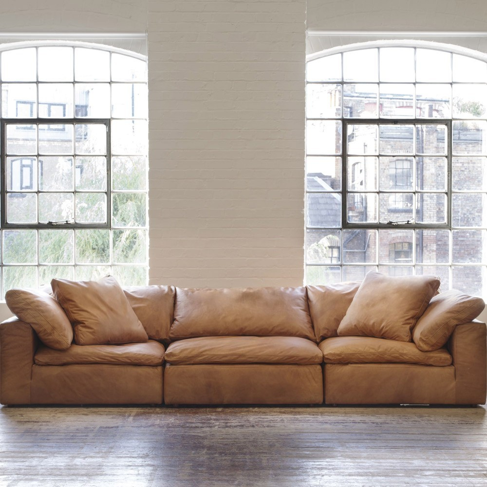 Andrew Martin Truman Sectional Sofa – Tan Leather | Moduler Sofa Inside Andrew Leather Sofa Chairs (Image 11 of 25)