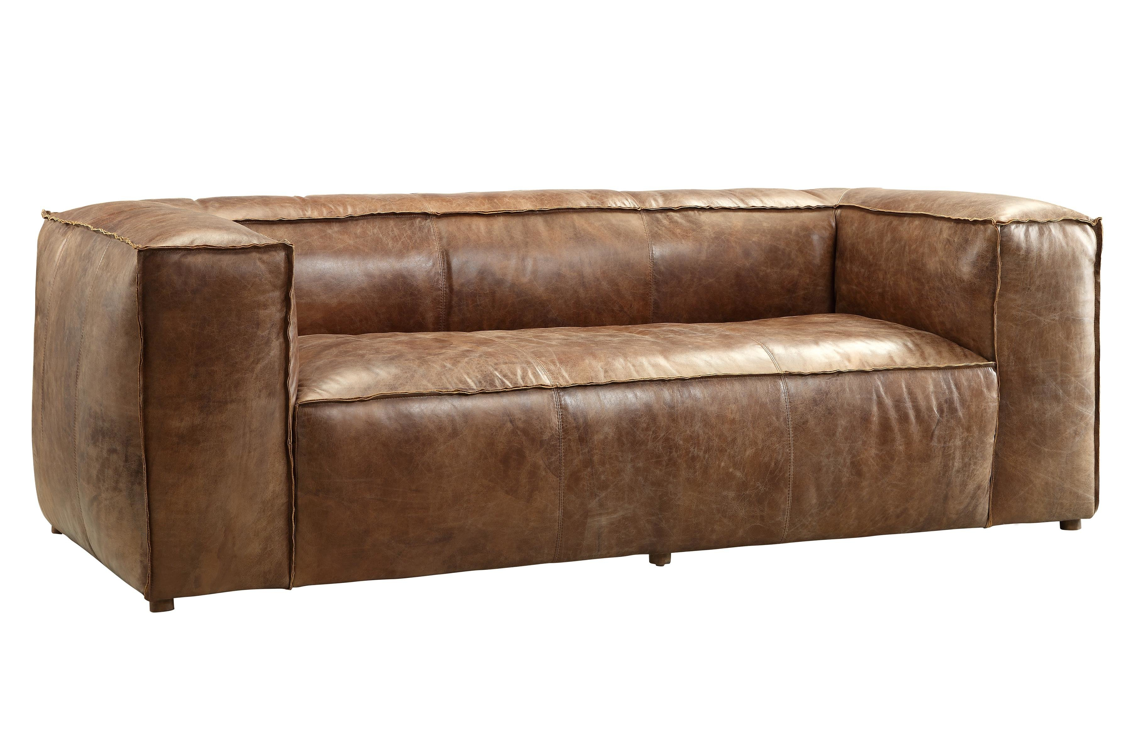 Annessia Leather Sofa & Reviews | Allmodern Regarding Grandin Leather Sofa Chairs (Photo 17 of 25)