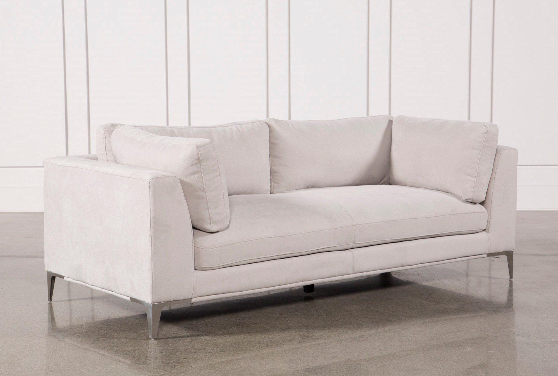 Apollo Light Grey Sofa W/2 Pillows Pertaining To Escondido Sofa Chairs (Image 5 of 25)