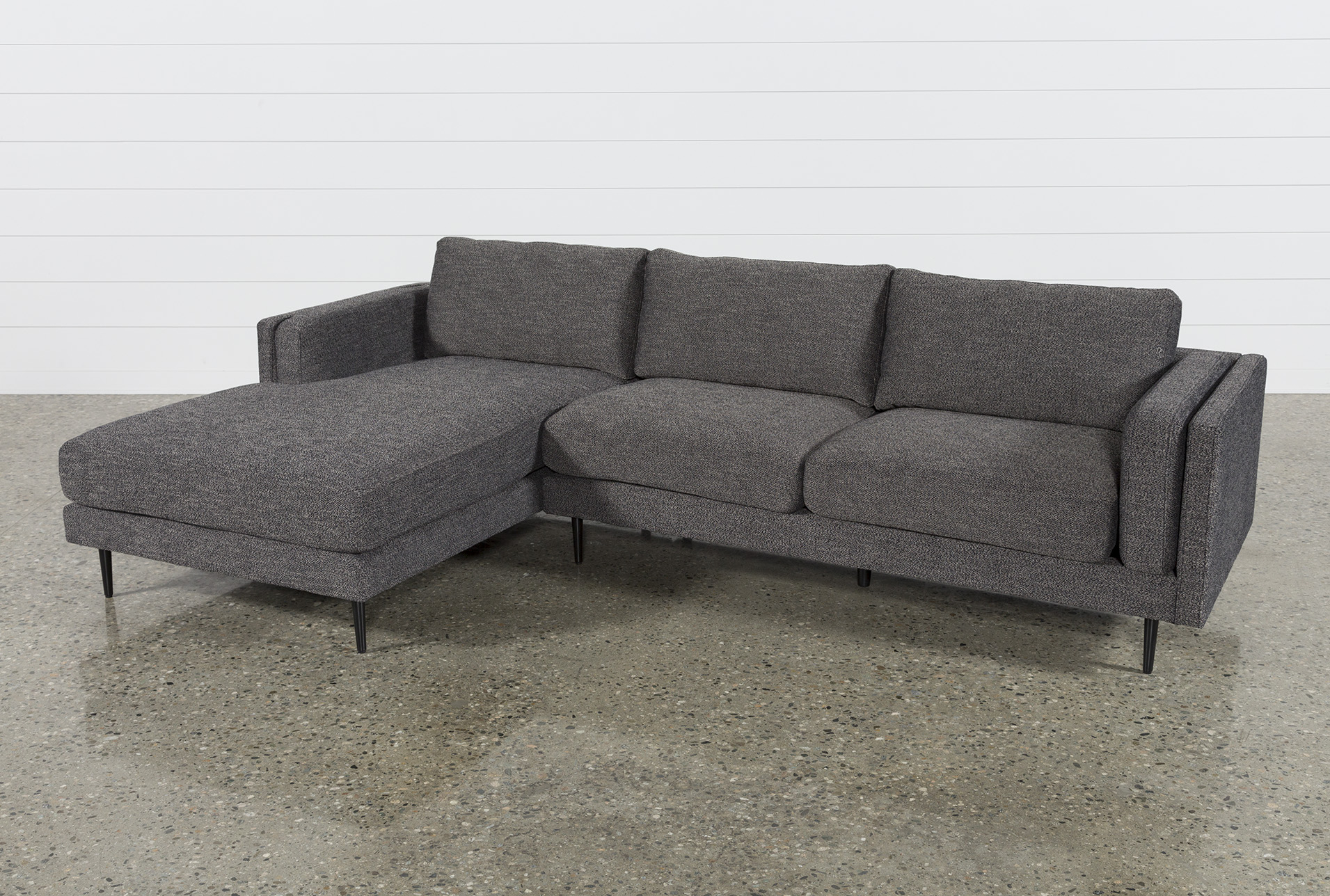 Aquarius Dark Grey 2 Piece Sectional W/laf Chaise In 2018 | Products Throughout Aquarius Dark Grey Sofa Chairs (View 3 of 25)