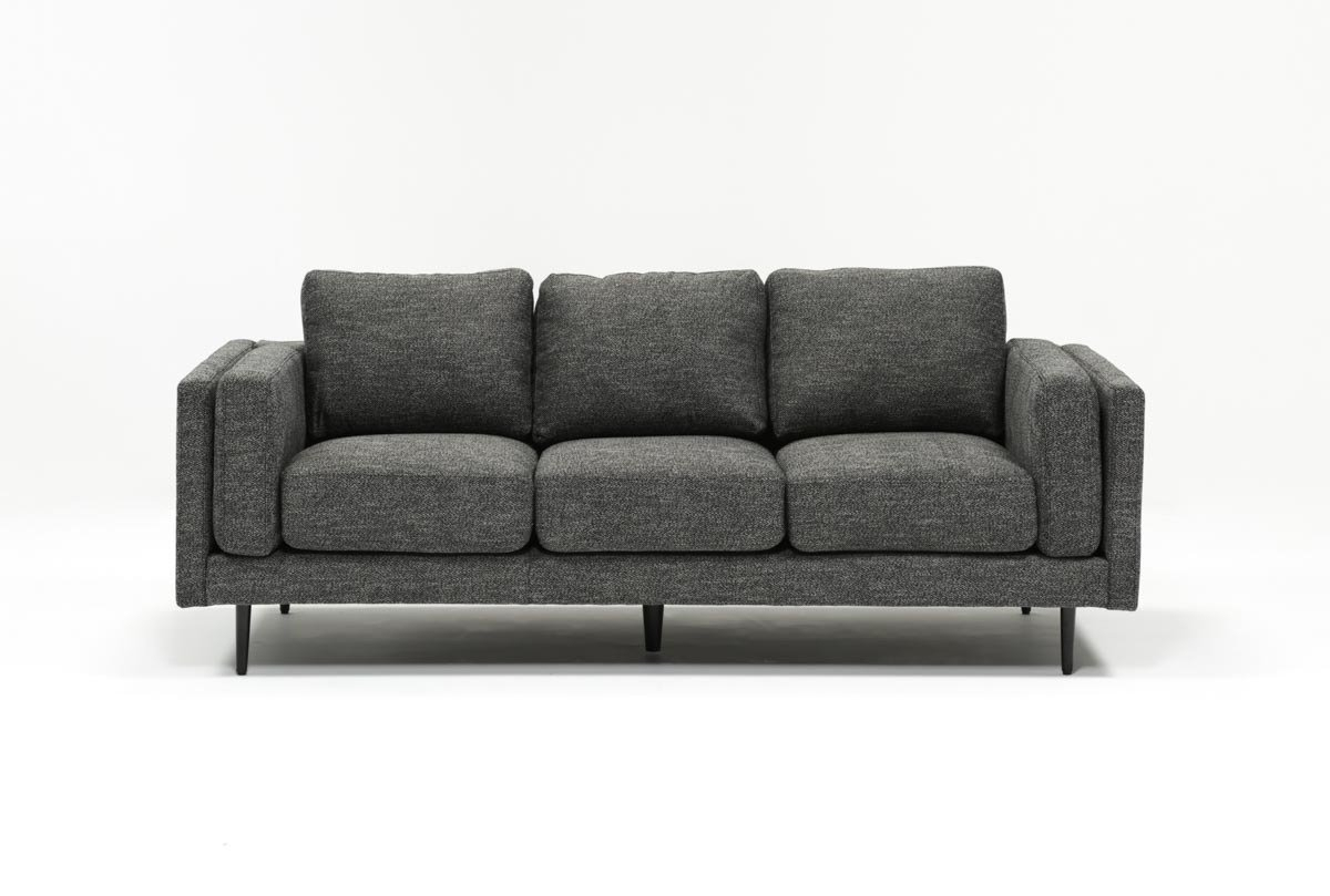 Aquarius Dark Grey Sofa | Living Spaces intended for Aquarius Dark Grey Sofa Chairs