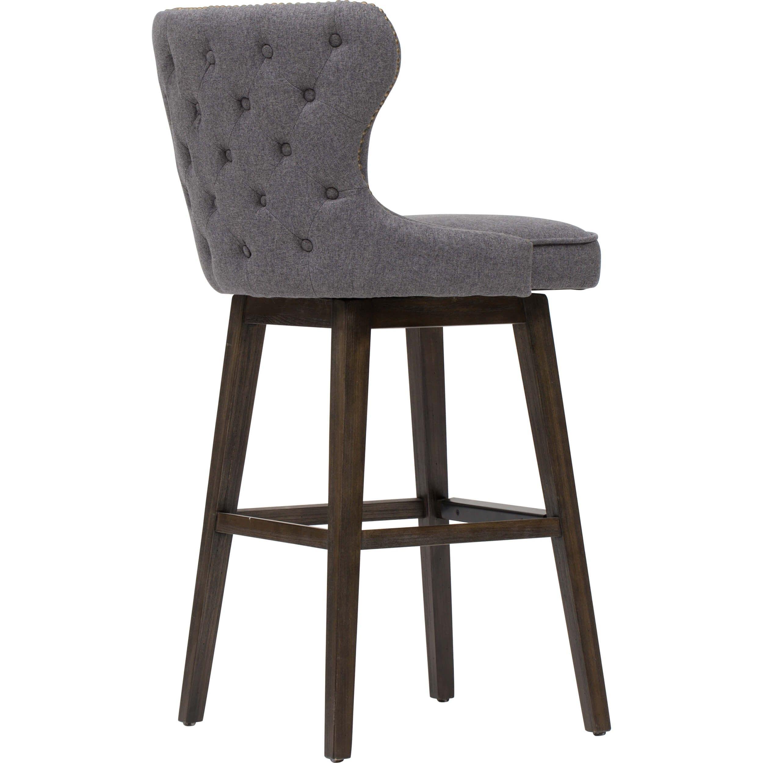 Ariana Swivel Bar Stool, Dark Grey | Basement | Pinterest | Bar Within Katrina Beige Swivel Glider Chairs (View 17 of 25)