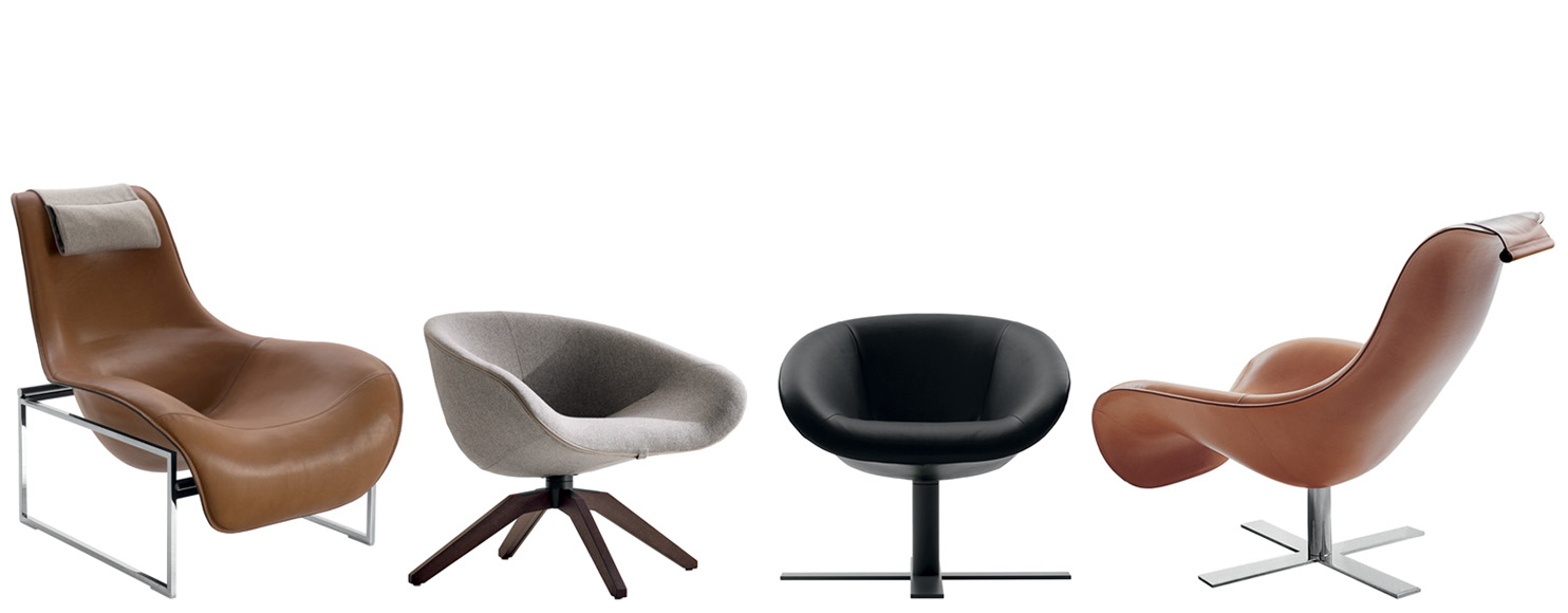 Armchair Mart  B&b Italia – Designantonio Citterio With Theo Ii Swivel Chairs (Image 3 of 25)