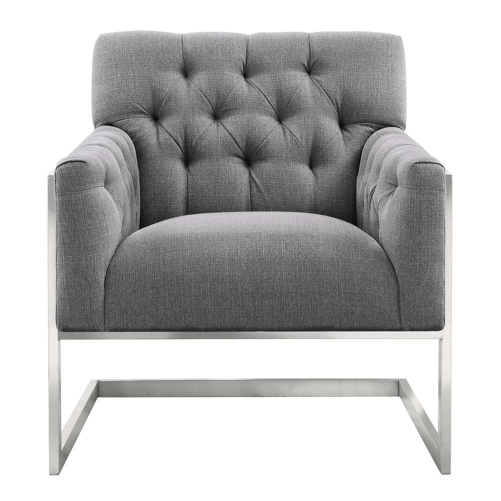 Armen Living Armen Living Emily Grey Fabric Contemporary Accent Intended For Loft Black Swivel Accent Chairs (View 10 of 25)