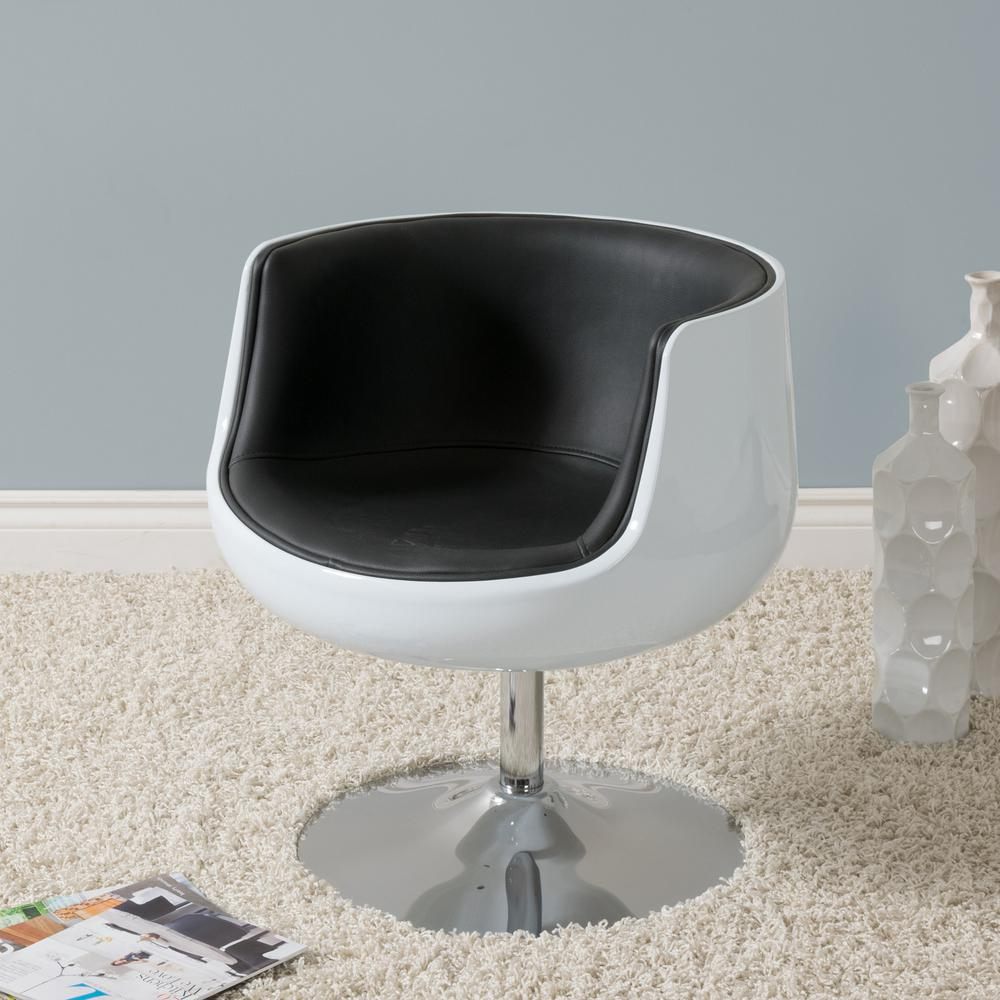 Armen Living Truly Grey Velvet And Black Velvet Piping Contemporary In Katrina Blue Swivel Glider Chairs (Image 2 of 25)