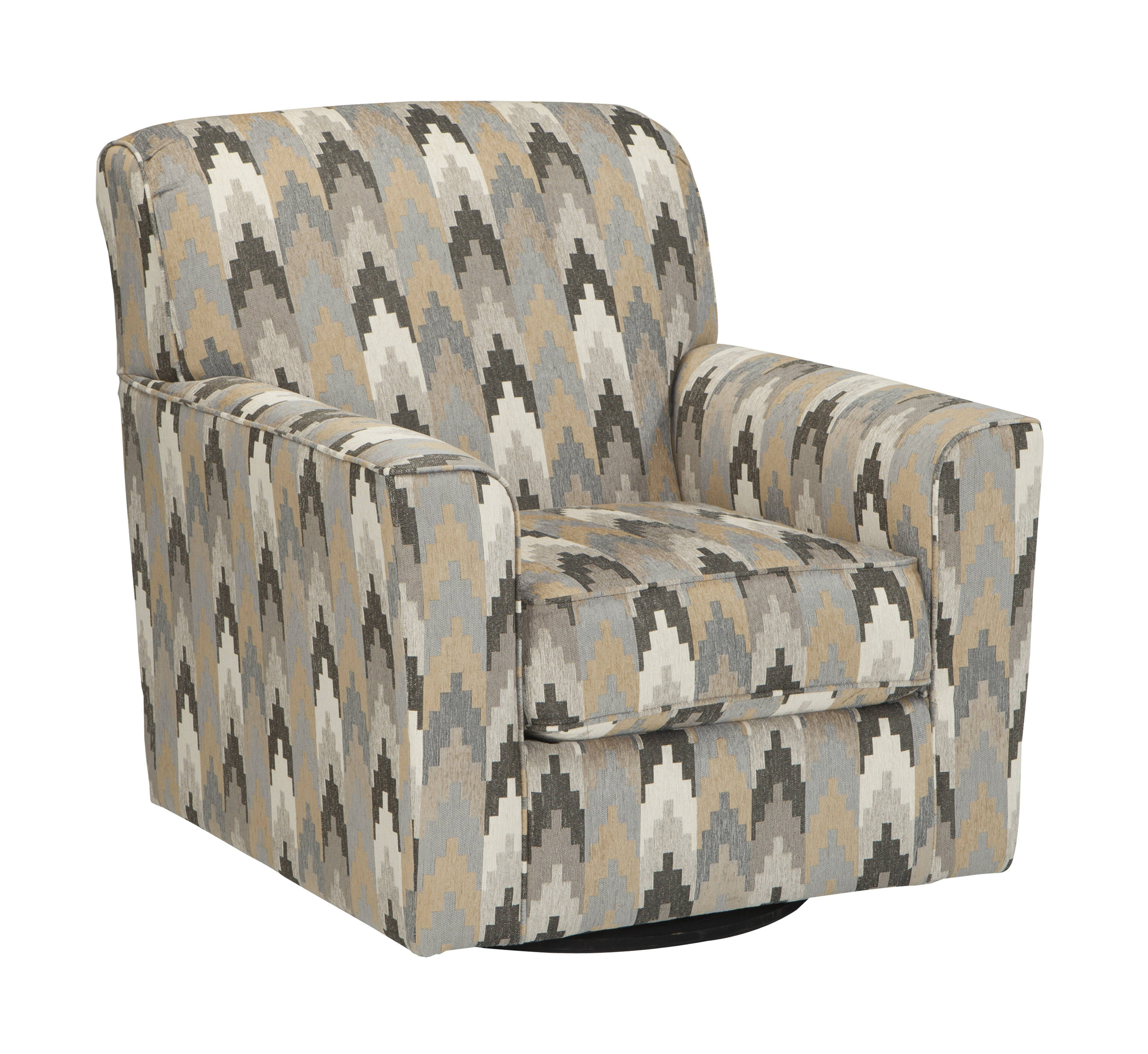 Ashley Furniture Braxlin Charcoal Swivel Accent Chair | The Classy Home Regarding Charcoal Swivel Chairs (View 18 of 25)