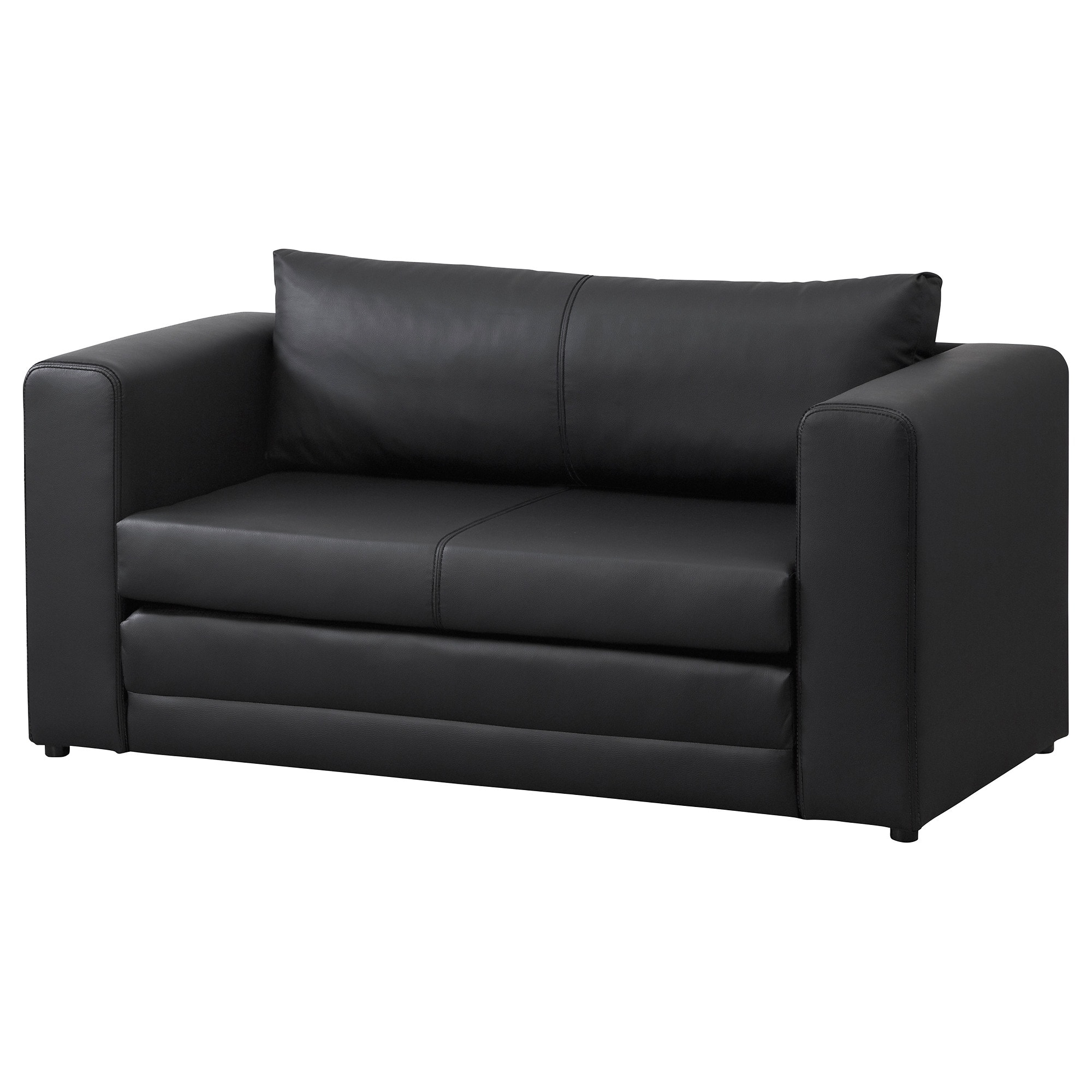 Askeby Two Seat Sofa Bed Black – Ikea With Ikea Sofa Chairs (Image 1 of 25)
