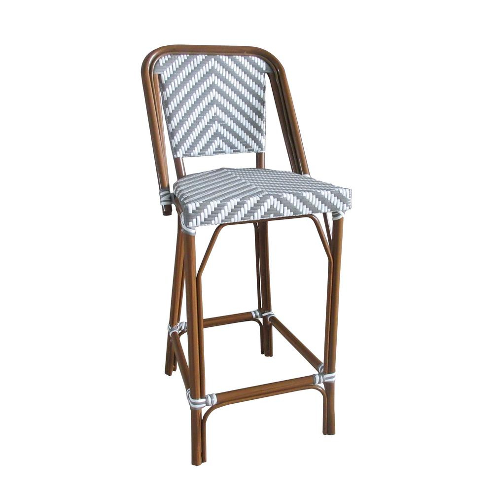 Aspen Brands Brown Stackable Aluminum And Plastic Wicker Bistro Bar In Aspen Swivel Chairs (View 20 of 25)