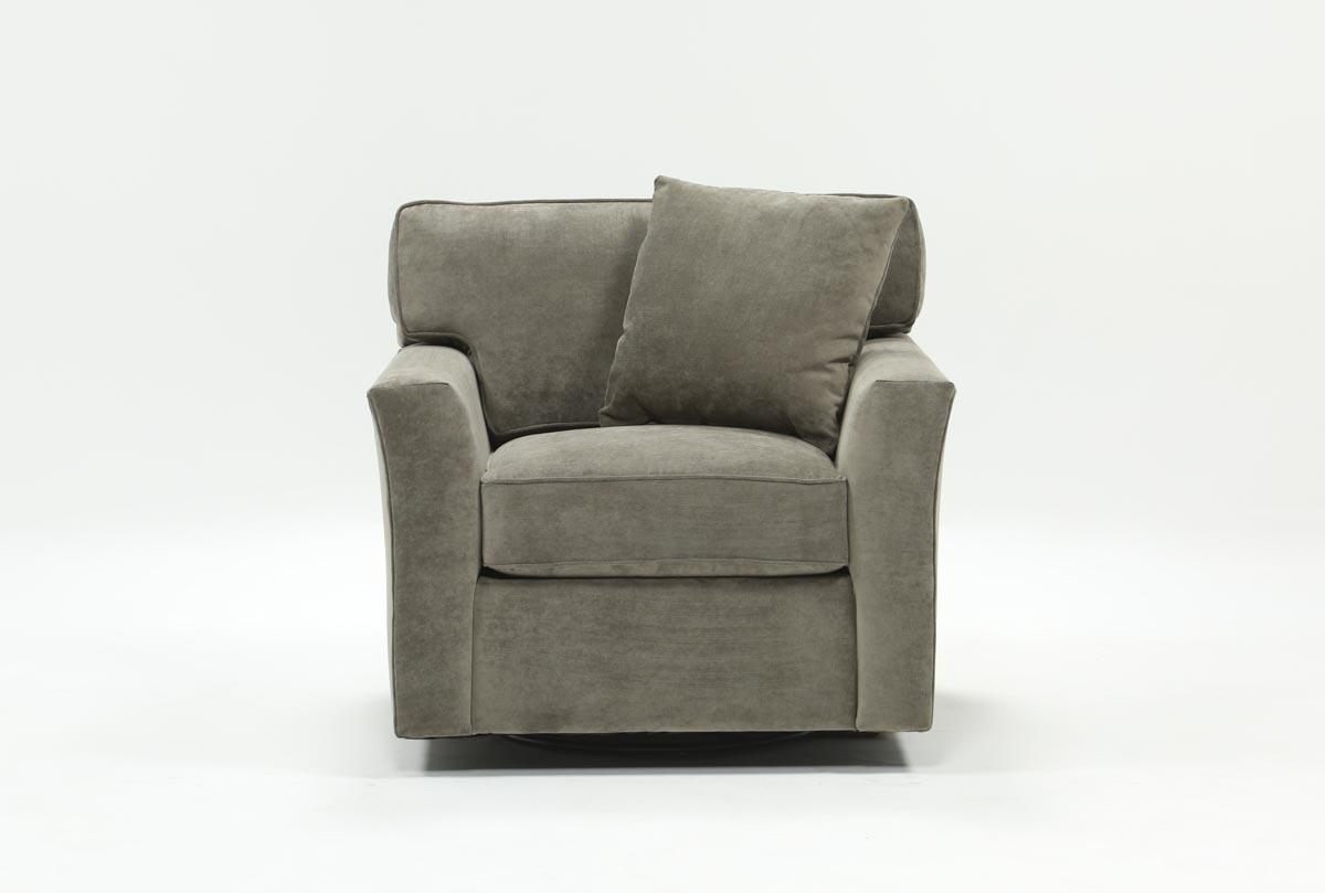 Aspen Swivel Chair | Living Spaces Intended For Chill Swivel Chairs With Metal Base (Image 5 of 25)