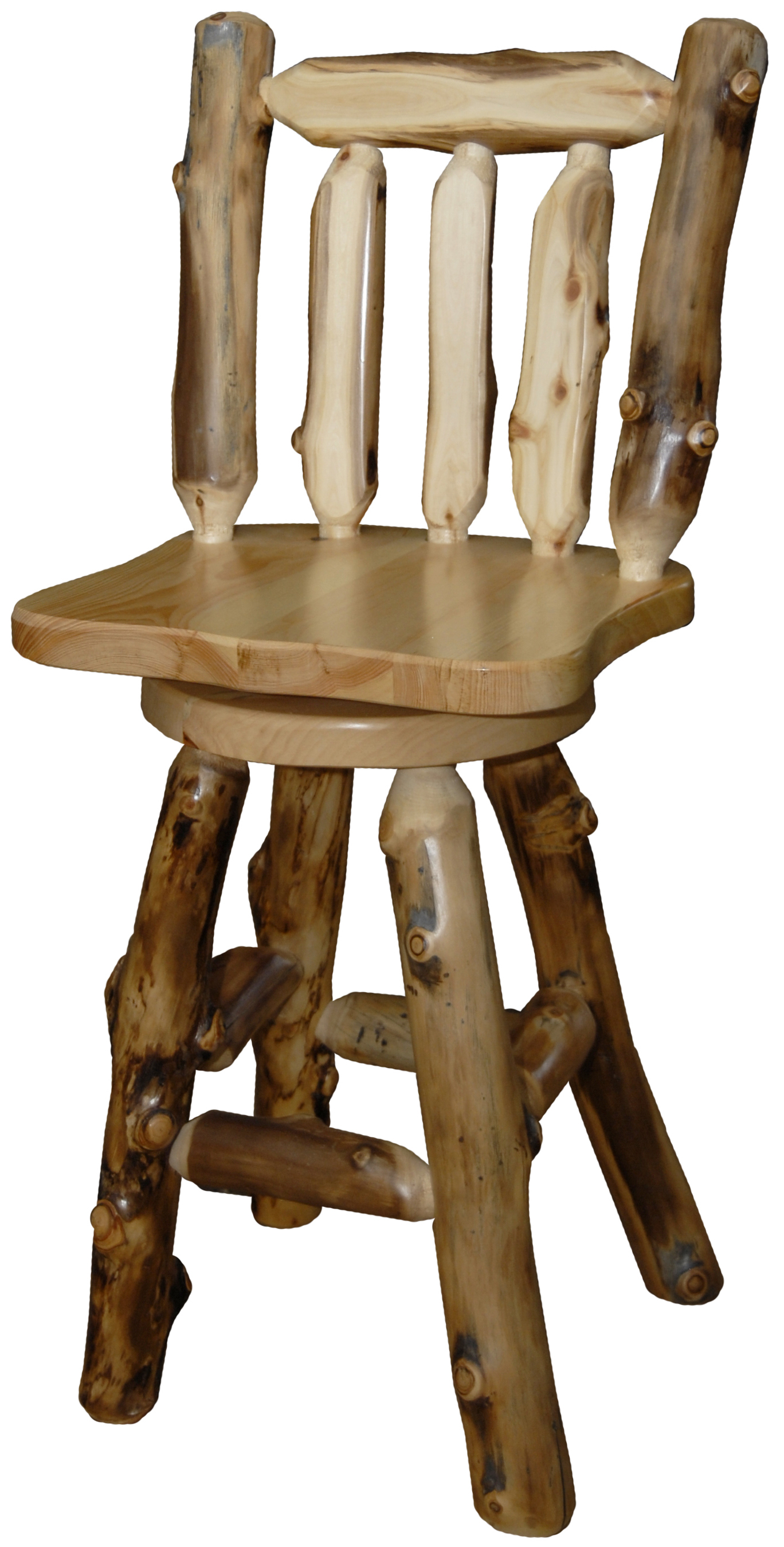 Aspen Swivel Log Bar Stool Intended For Aspen Swivel Chairs (View 12 of 25)