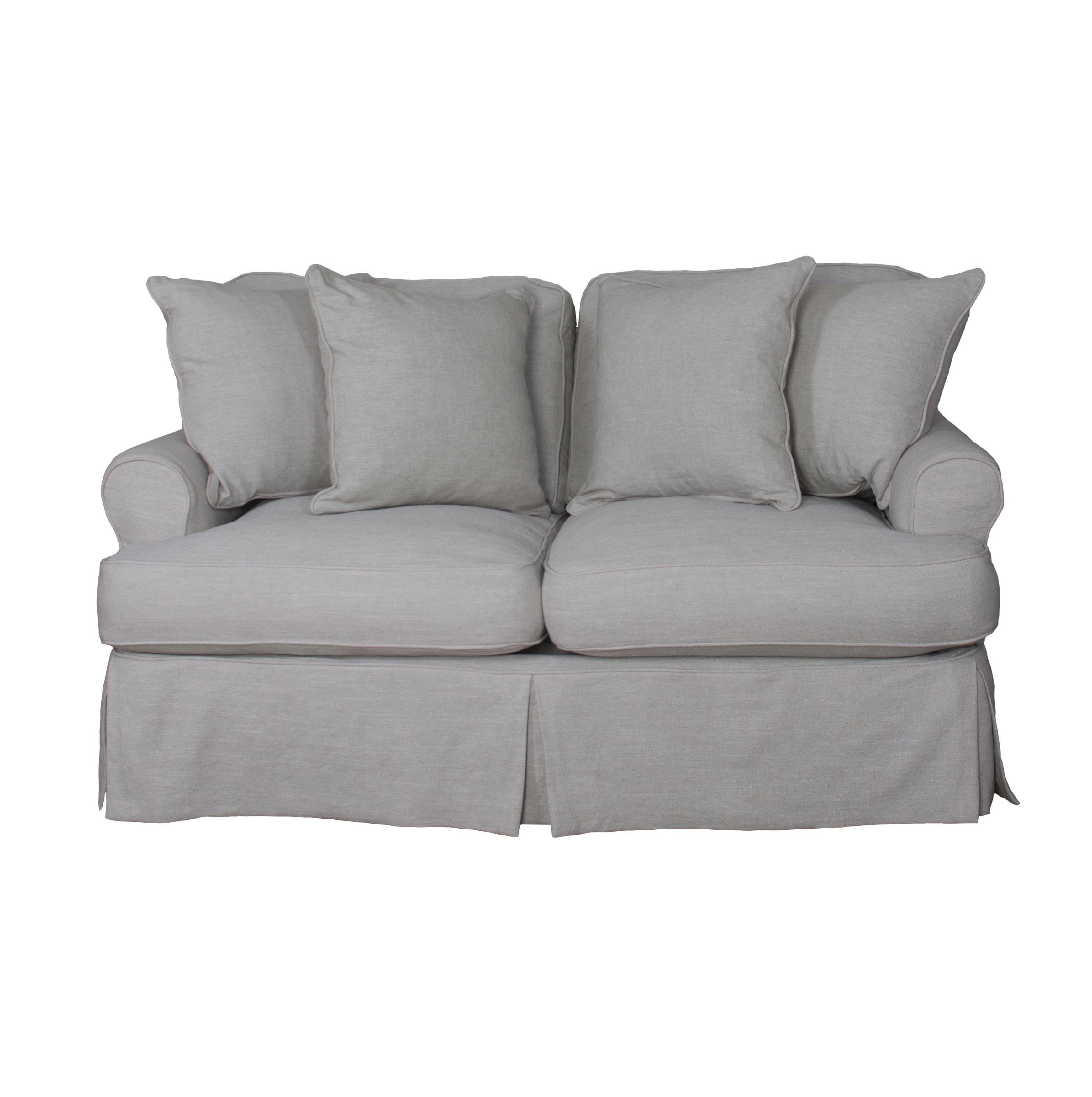 August Grove Callie Slipcovered Loveseat | Wayfair Pertaining To Callie Sofa Chairs (Image 1 of 25)