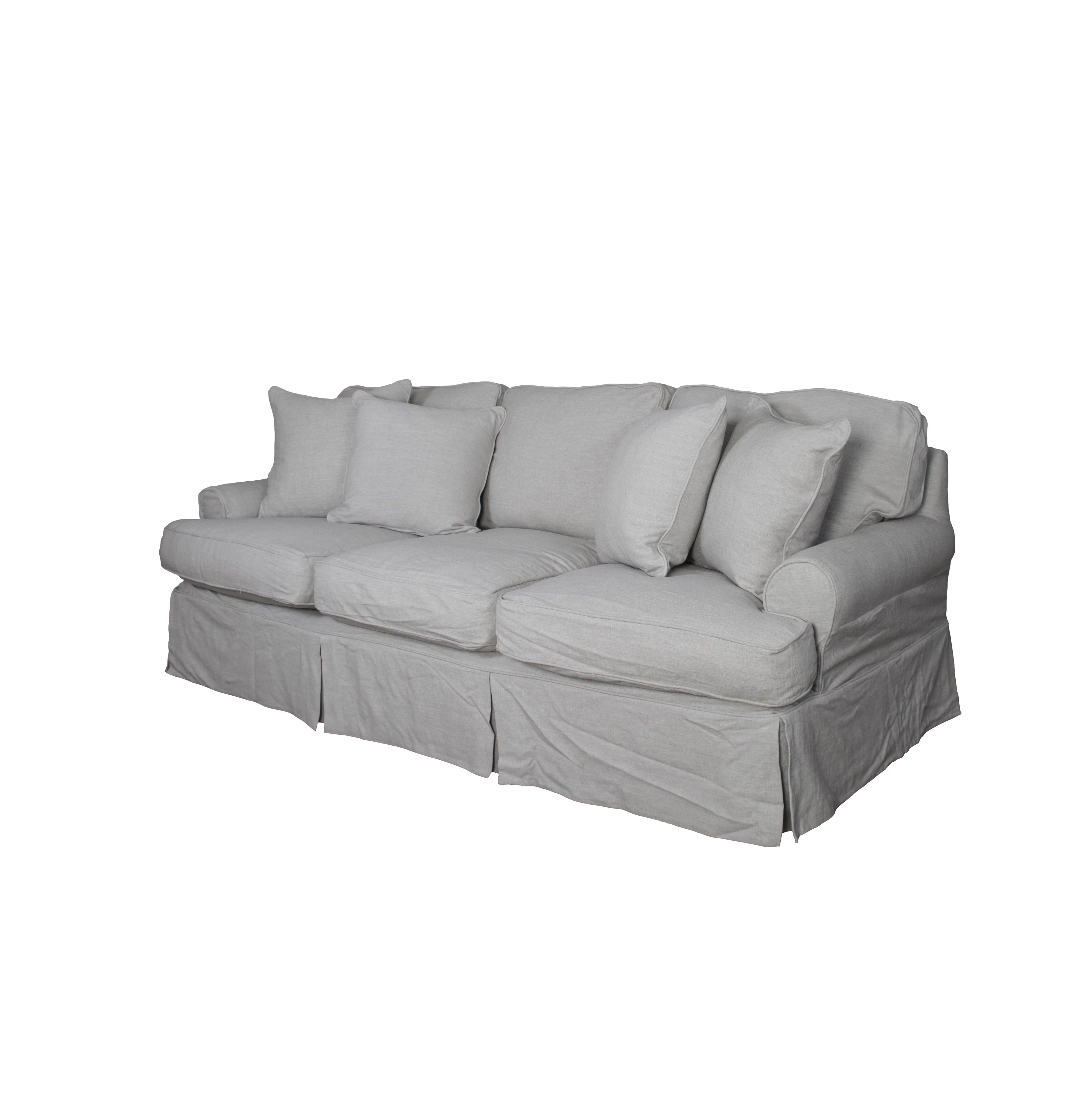 August Grove Callie T Cushion Sofa Slipcover & Reviews | Wayfair In Callie Sofa Chairs (Image 2 of 25)