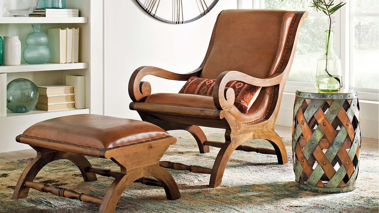 Augusto Chair And Ottoman | Home Sweet Home In 2018 | Pinterest Pertaining To Grandin Leather Sofa Chairs (Image 5 of 25)