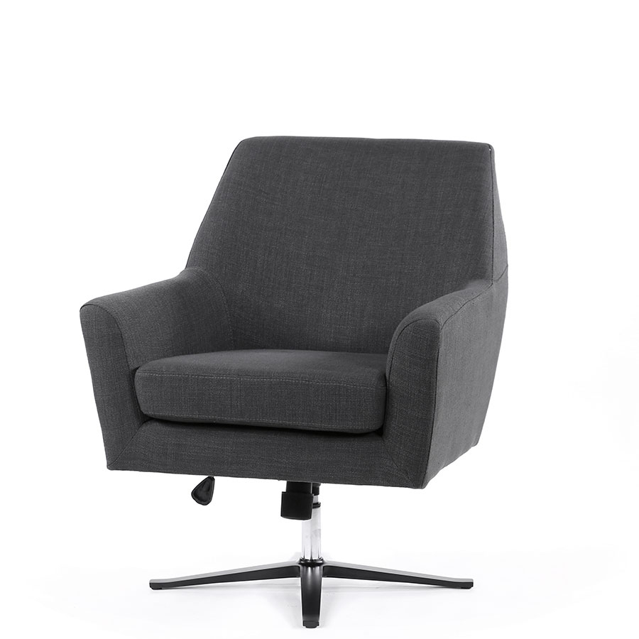 Ava Swivel Chair | Various Colours |Black Mango | The Block Shop In Charcoal Swivel Chairs (View 13 of 25)