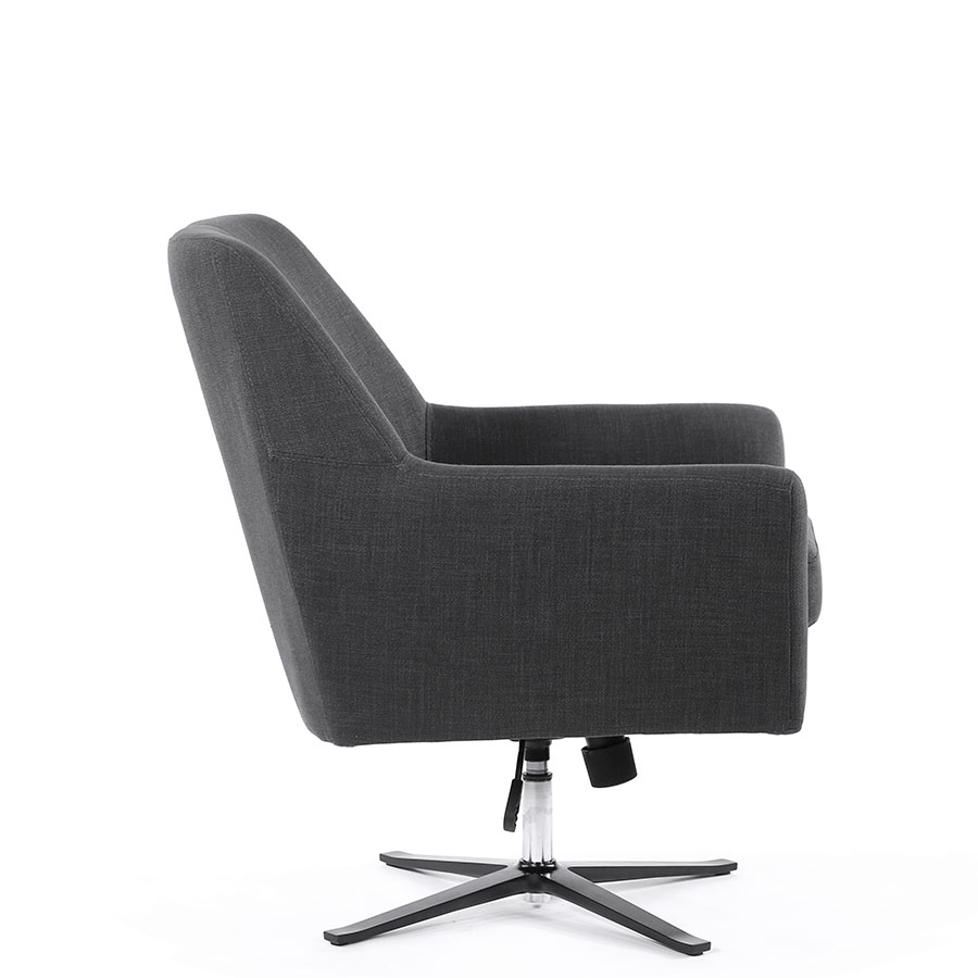 Ava Swivel Chair | Various Colours |Black Mango | The Block Shop Pertaining To Charcoal Swivel Chairs (View 17 of 25)