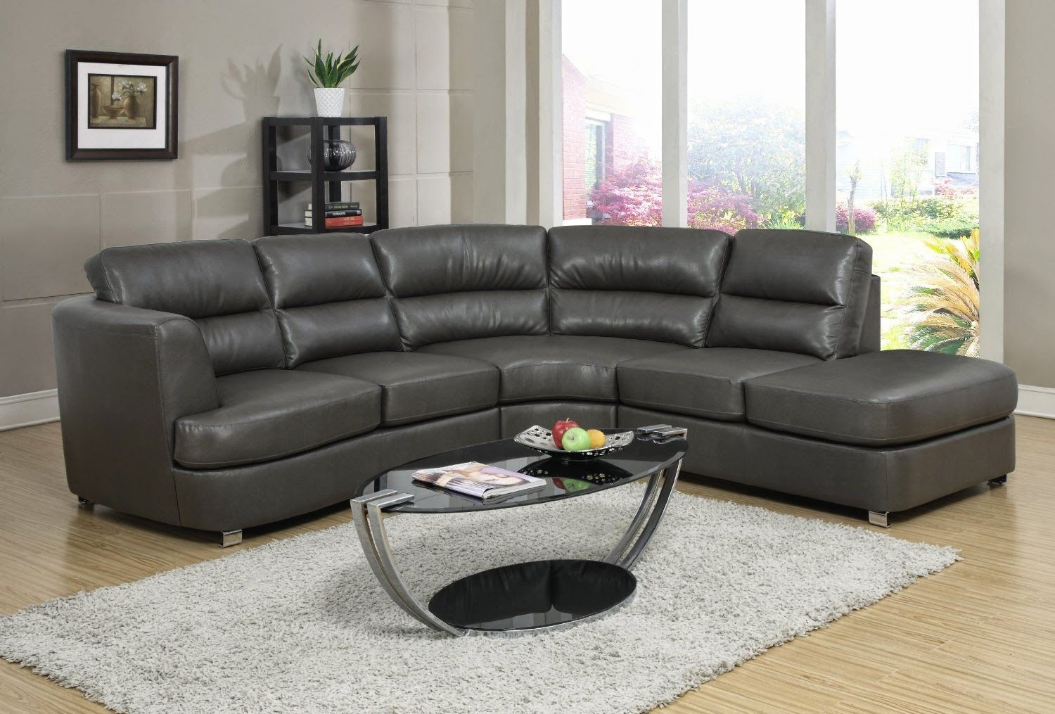 Awesome Dark Gray Sofa With Sofa Angela Grey Leather Couch Grey With Regard To Gina Grey Leather Sofa Chairs (Image 3 of 25)