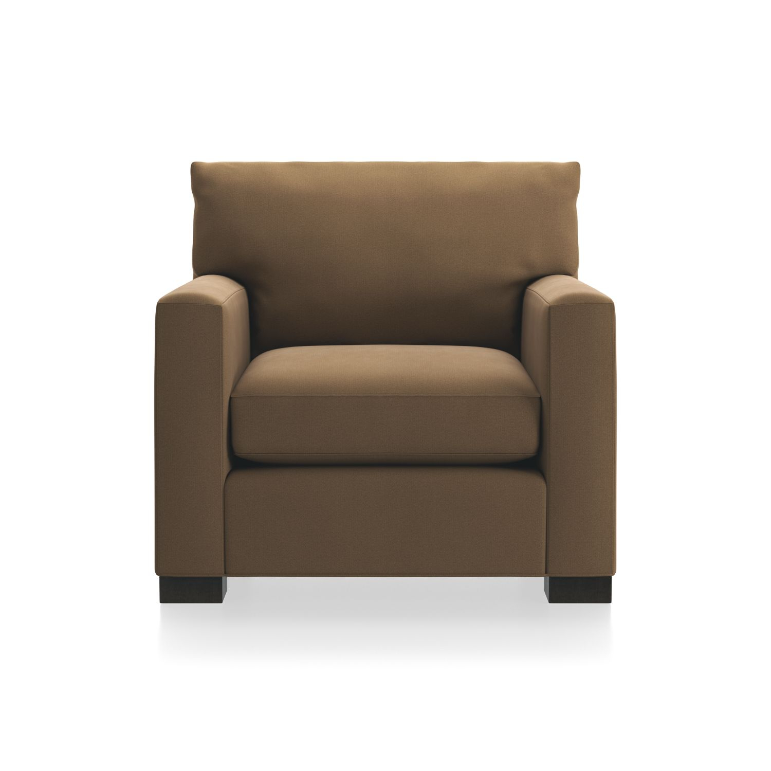 Axis Ii 2 Seat Brown Sleeper Sofa + Reviews | Crate And Barrel Pertaining To Alder Grande Ii Swivel Chairs (View 7 of 25)