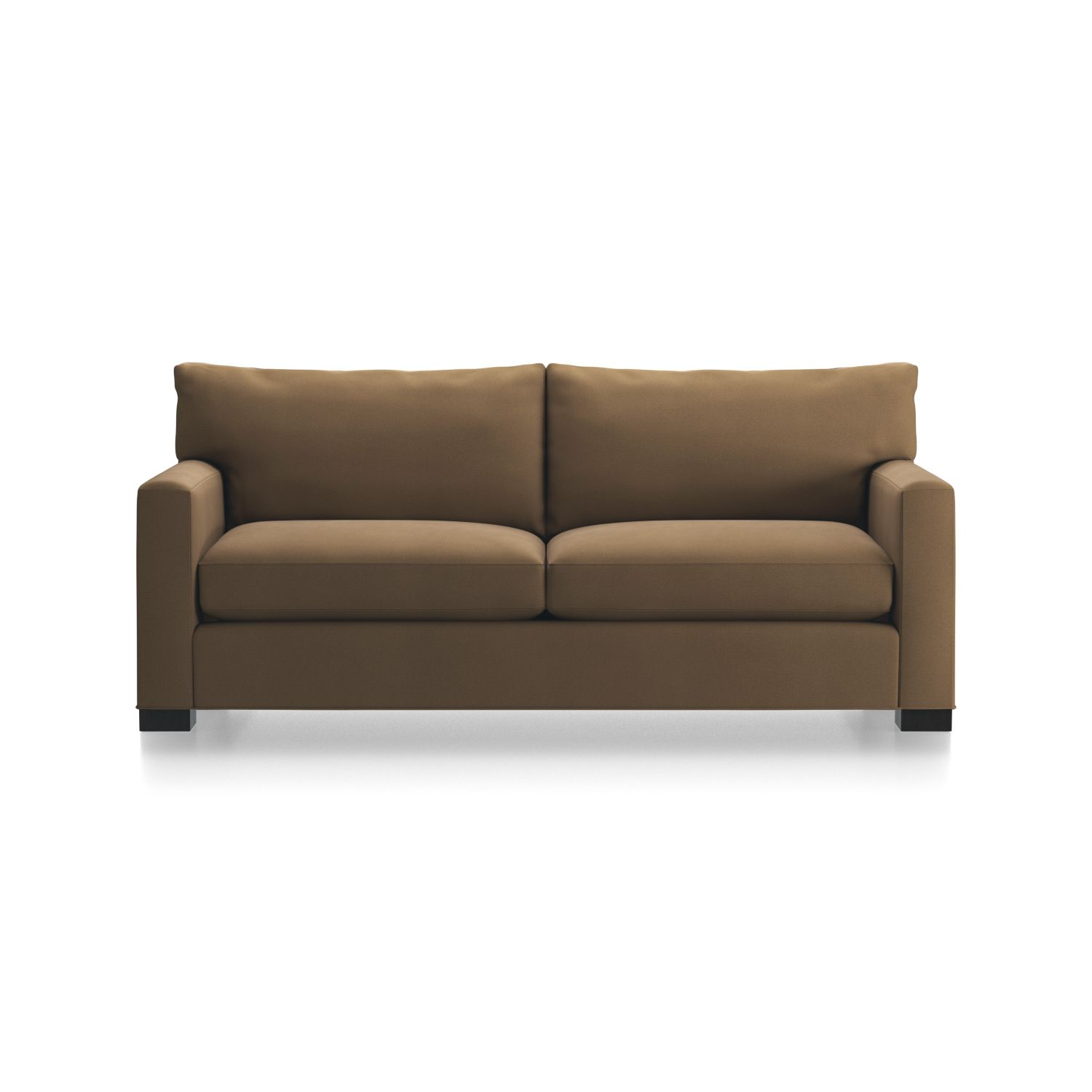 Axis Ii Leather Swivel Chair + Reviews | Crate And Barrel For Espresso Leather Swivel Chairs (Image 3 of 25)