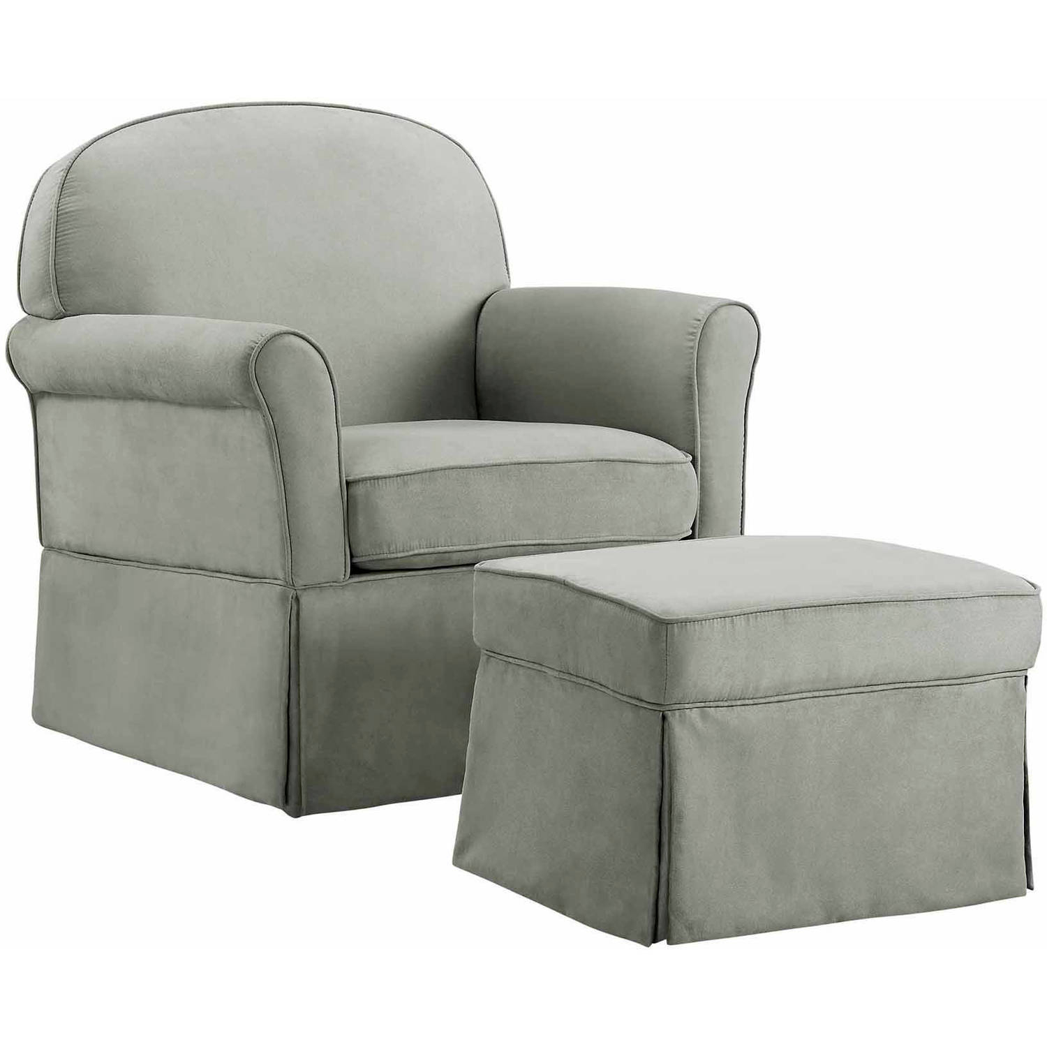 Baby Relax Evan Swivel Glider And Ottoman Gray – Walmart For Dark Grey Swivel Chairs (View 18 of 25)