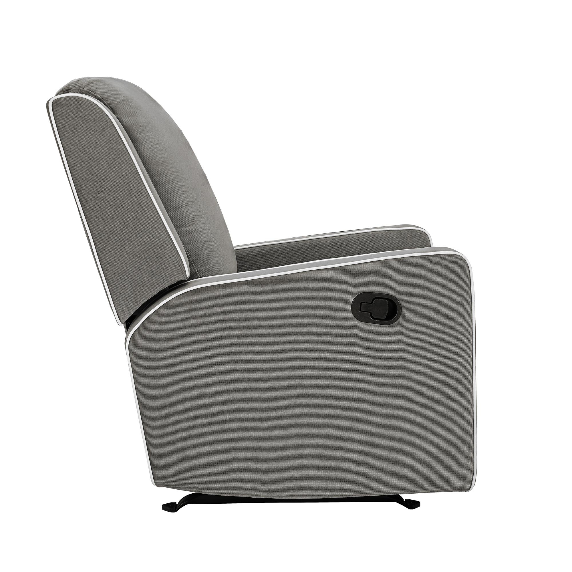 Baby Relax Robyn Rocking Recliner, Graphite Grey – Walmart In Abbey Swivel Glider Recliners (View 13 of 25)