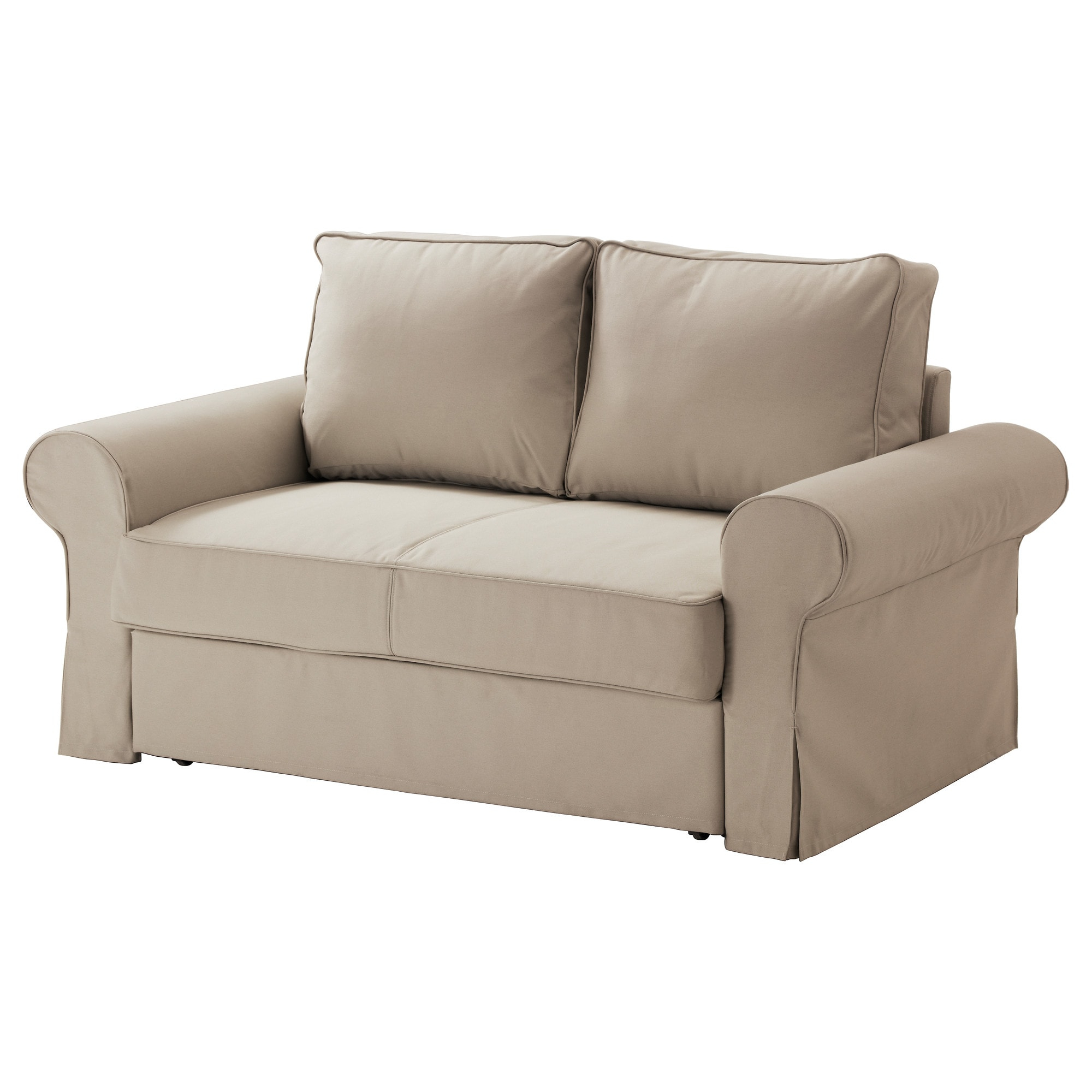 Backabro Two Seat Sofa Bed Ramna Beige – Ikea With Ikea Sofa Chairs (Image 2 of 25)