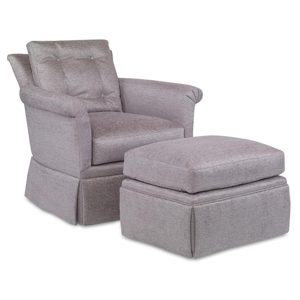 Bailey Chair – Luxe Home Company Inside Bailey Mist Track Arm Skirted Swivel Gliders (View 6 of 25)