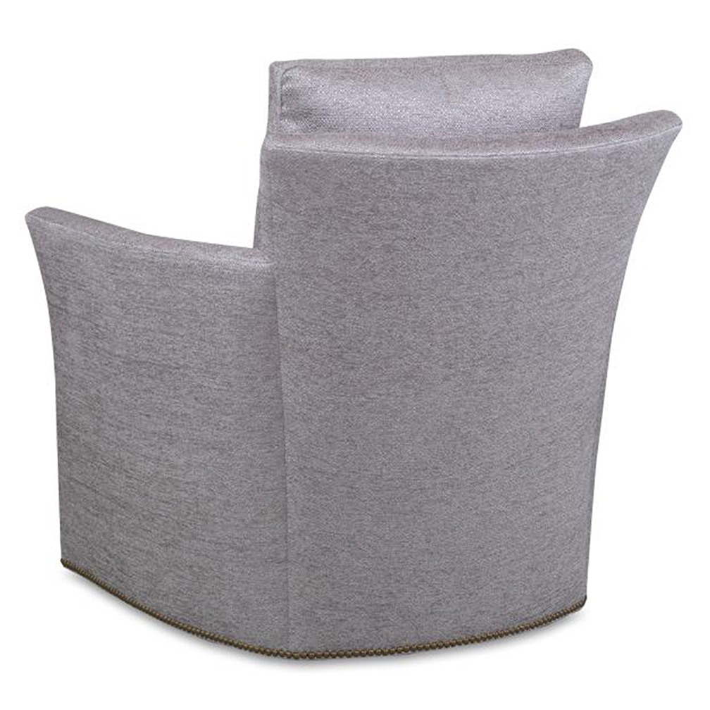 Bailey Swivel Chair – Luxe Home Company Pertaining To Bailey Roll Arm Skirted Swivel Gliders (View 5 of 25)