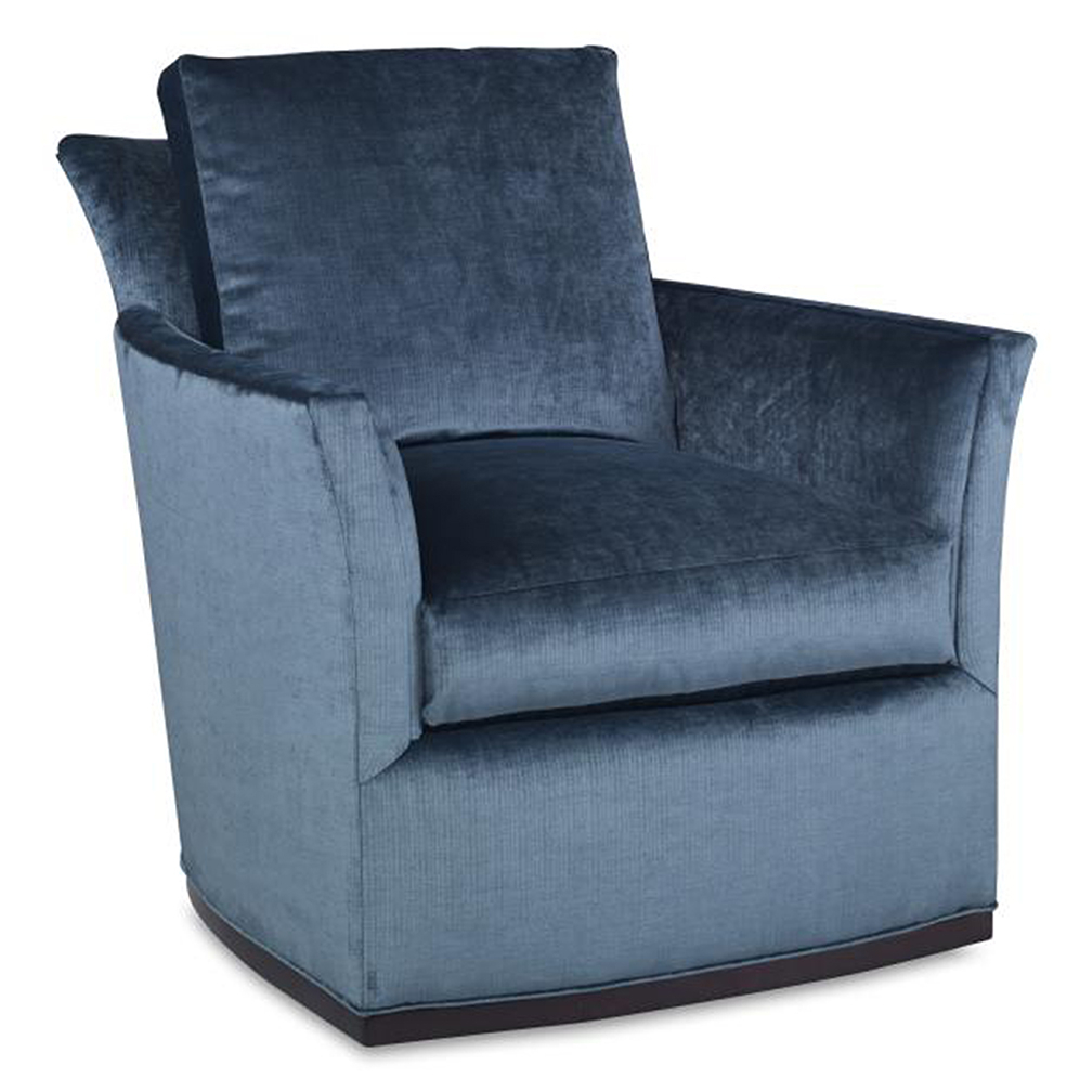 Bailey Swivel Chair – Luxe Home Company Within Bailey Mist Track Arm Skirted Swivel Gliders (Image 8 of 25)