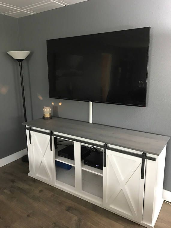 Barn Door Tv Stand / Media Console (Image 1 of 25)