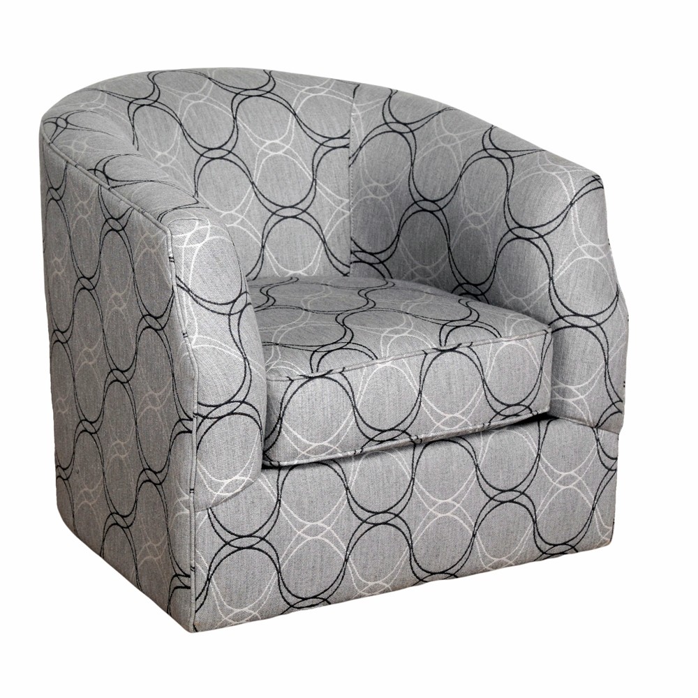 Bauhaus – Sunbrella Linwood Curvature Charcoal Swivel Accent Chair Throughout Charcoal Swivel Chairs (View 25 of 25)