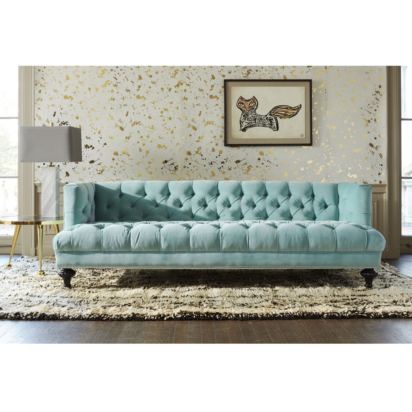 Baxter Sofa | Sofas Ideas | Pinterest | Jonathan Adler, Nailhead Pertaining To Alder Grande Ii Sofa Chairs (View 5 of 25)
