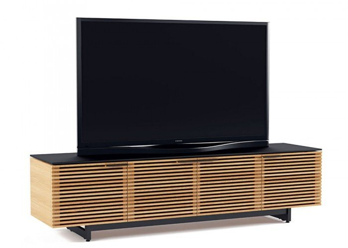 Bdi Corridor 8173 White Oak Tv Cabinet Pertaining To Well Liked Oak Tv Cabinet With Doors (Image 5 of 25)