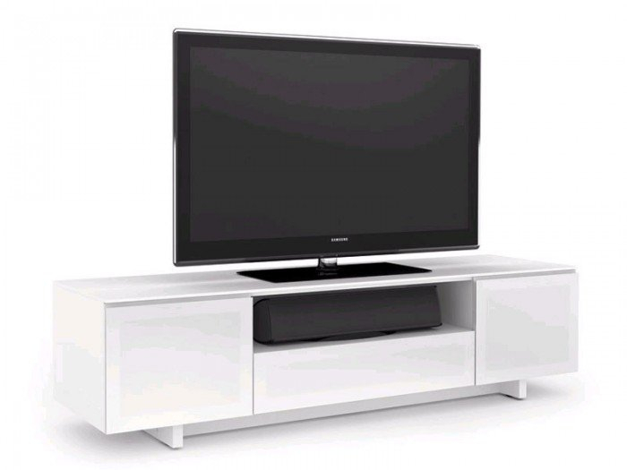 Bdi Nora 8239 Gloss White Tv Cabinet For Well Liked Gloss White Tv Cabinets (Image 3 of 25)