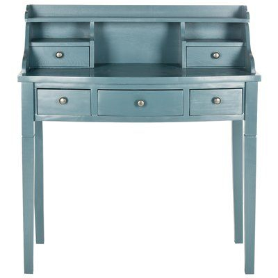 Beachcrest Home Olavo Writing Desk Finish: Slate Teal (View 13 of 25)