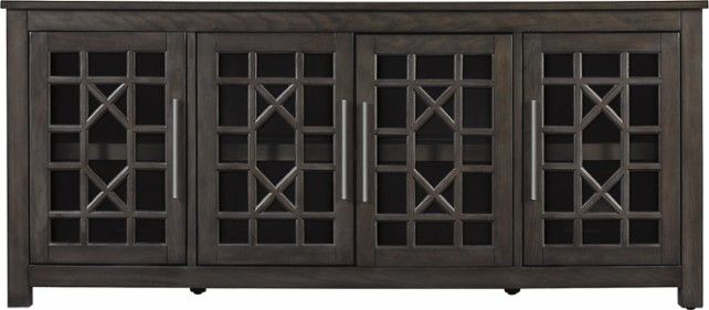 """Bell'o – Tv Stand For Most Tvs Up To 70"""" – Tifton Oak In 2018 Within Widely Used Dixon White 84 Inch Tv Stands (Image 2 of 25)"""