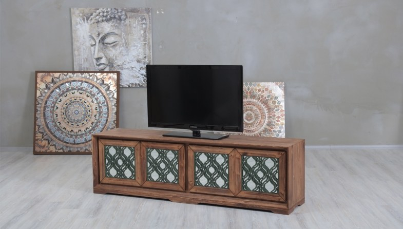 Benvor Mirrored Tv Unit (Image 5 of 25)