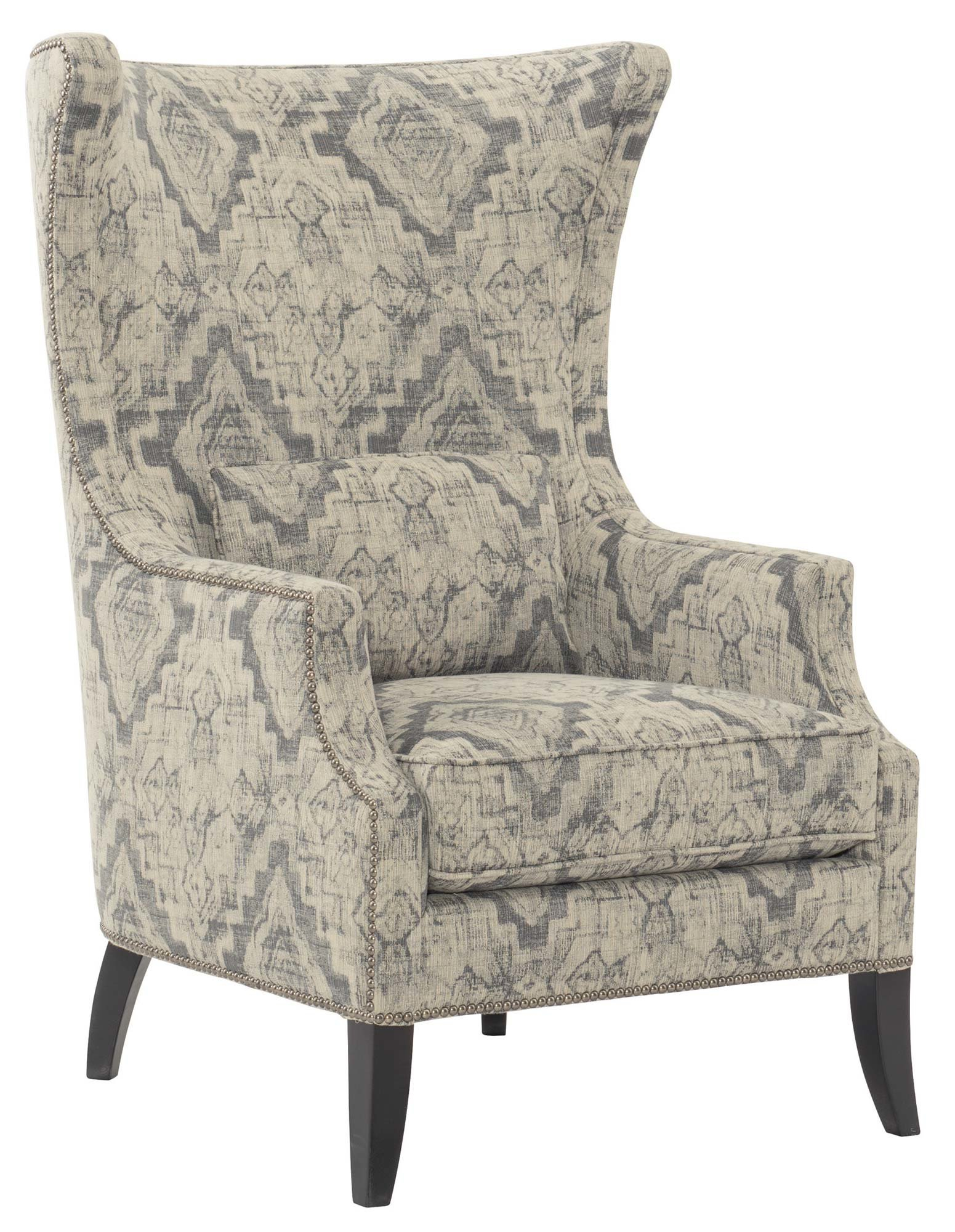 Bernhardt Mona Wingback Chair | Wayfair With Loft Smokey Swivel Accent Chairs (View 17 of 25)
