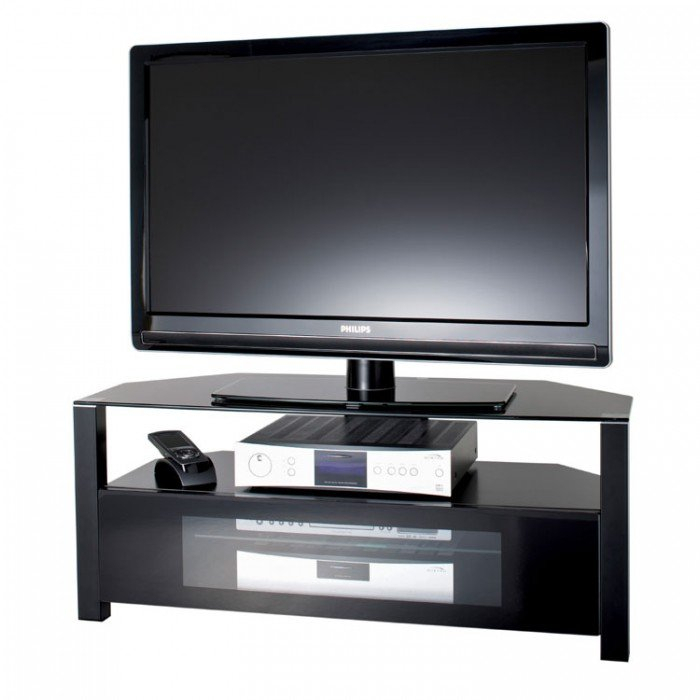 Best And Newest Alphason Tv Cabinet Pertaining To Alphason Large Ambri D Shaped Glass Corner Tv Cabinet – Abrd1100 B (Image 11 of 25)