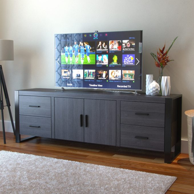 Best And Newest Annabelle Black 70 Inch Tv Stands Throughout Furniture: 70 Inch Tv Stand For Family And Living Room (View 2 of 25)