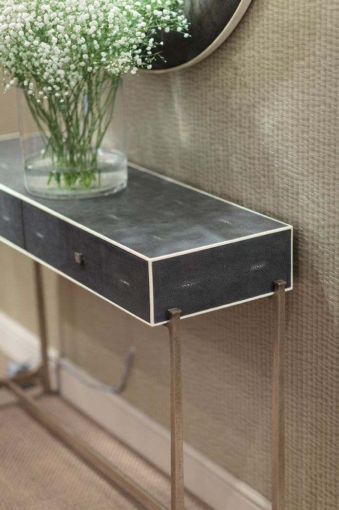 Best And Newest Faux Shagreen Console Tables Pertaining To Available In Bronze, Gold & Silver (View 20 of 25)