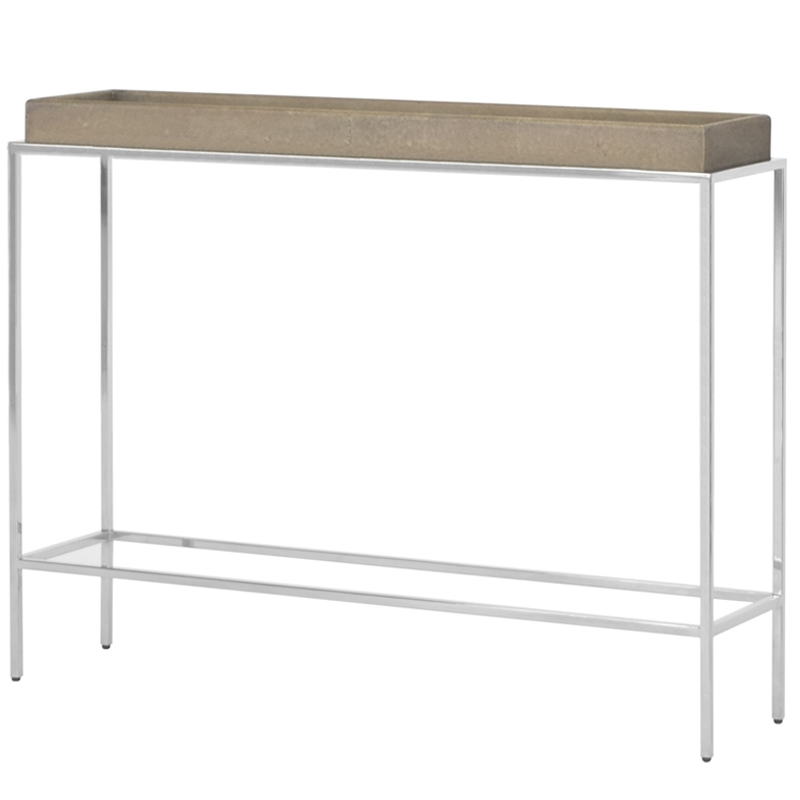 Best And Newest Faux Shagreen Console Tables Throughout Hw Home Shagreen Console Table (View 5 of 25)