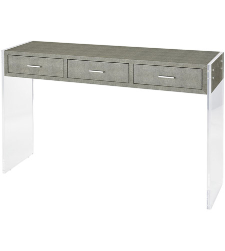 Best And Newest Grey Shagreen Media Console Tables Inside Sterling 3169 066 Monaco Ville 48 X 12 Inch Grey Faux Shagreen And (Image 1 of 25)