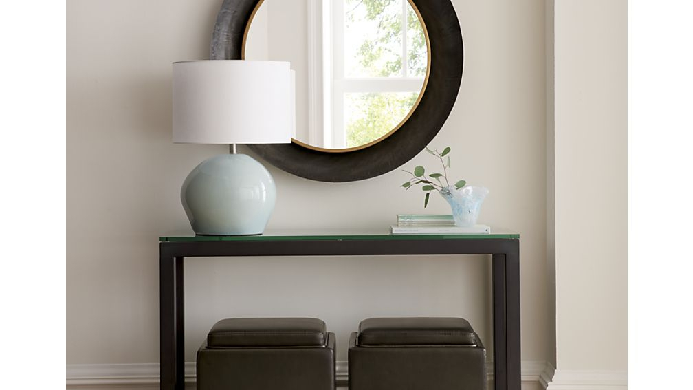 Best And Newest Parsons Grey Solid Surface Top & Dark Steel Base 48X16 Console Tables In Parsons Console Table (Image 5 of 25)