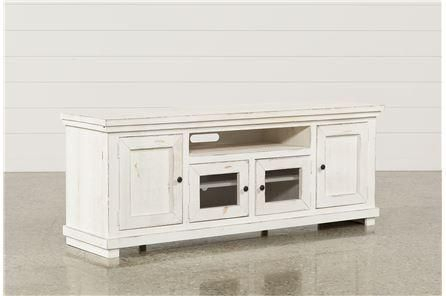 Best And Newest Sinclair Grey 68 Inch Tv Stands Regarding Sinclair White 74 Inch Tv Stand (View 2 of 25)