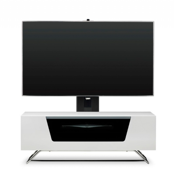 Best And Newest White Cantilever Tv Stand Intended For Alphason Alpha Chromium 2 Cantilever Tv/av Cabinet (Image 4 of 25)