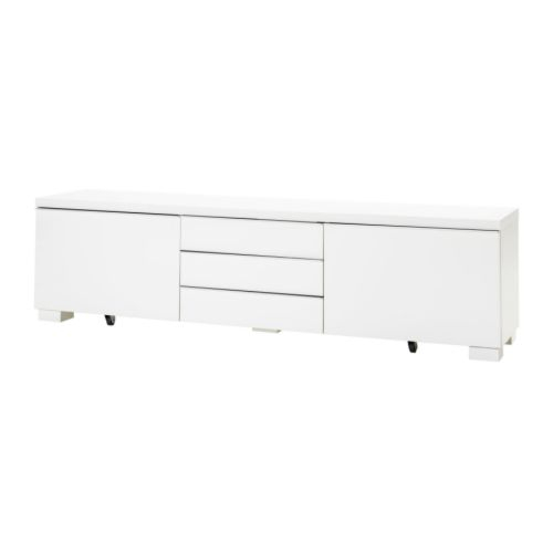 Besta Burs Tv Bench (High Gloss White) – Furniture Source Philippines Intended For Favorite Tv Bench White Gloss (Image 3 of 25)